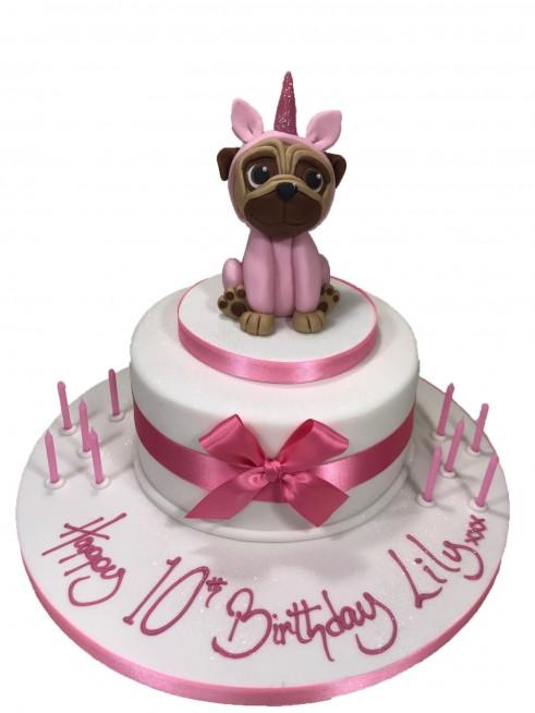 Marvelous Unicorn Pug Cake Funny Birthday Cards Online Bapapcheapnameinfo
