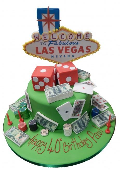 Marvelous Las Vegas Birthday Cake Birthday Cards Printable Inklcafe Filternl