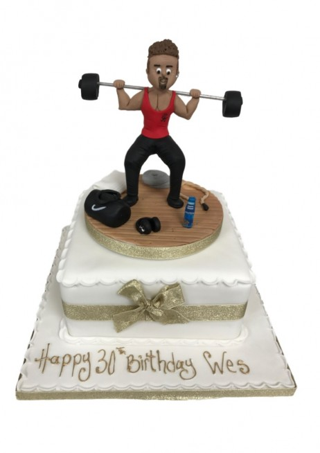 Weight Lifting Figure Cake Accessories