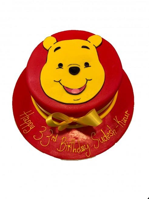 Astonishing Winnie The Pooh Birthday Cake Funny Birthday Cards Online Necthendildamsfinfo