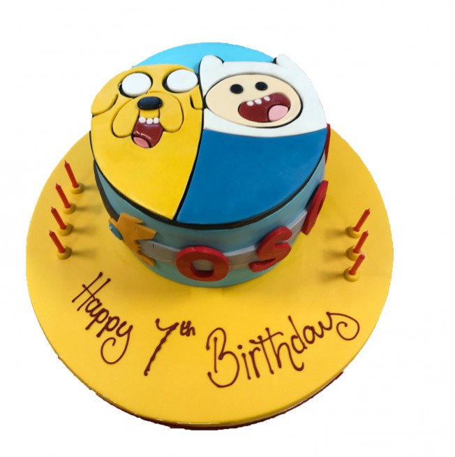 Terrific Adventure Time Birthday Cake Funny Birthday Cards Online Fluifree Goldxyz