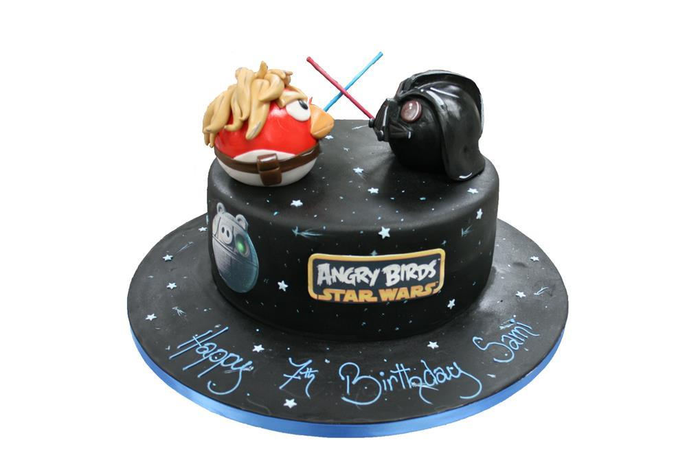 Fantastic Angry Birds Birthday Cake Funny Birthday Cards Online Overcheapnameinfo