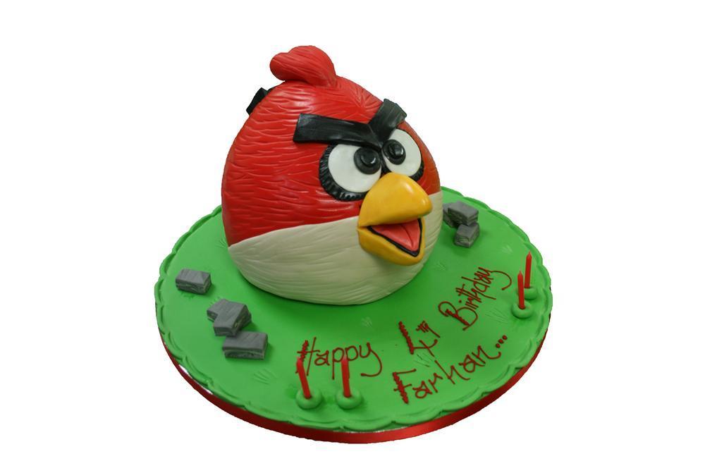 Marvelous Angry Birds Birthday Cake Funny Birthday Cards Online Overcheapnameinfo