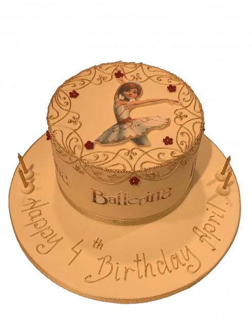 Awesome Ballerina Birthday Cake Birthday Cards Printable Opercafe Filternl