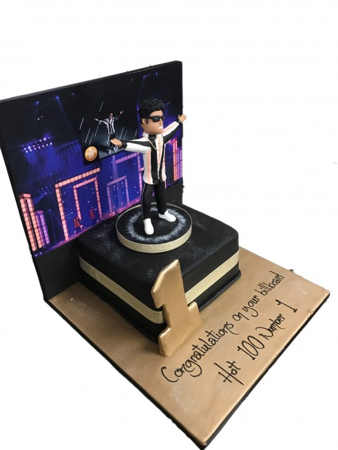 Bruno Mars Birthday Cake