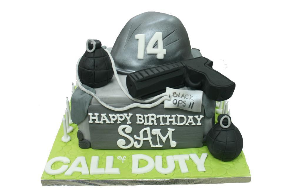 Outstanding Call Of Duty Birthday Cake Funny Birthday Cards Online Inifodamsfinfo