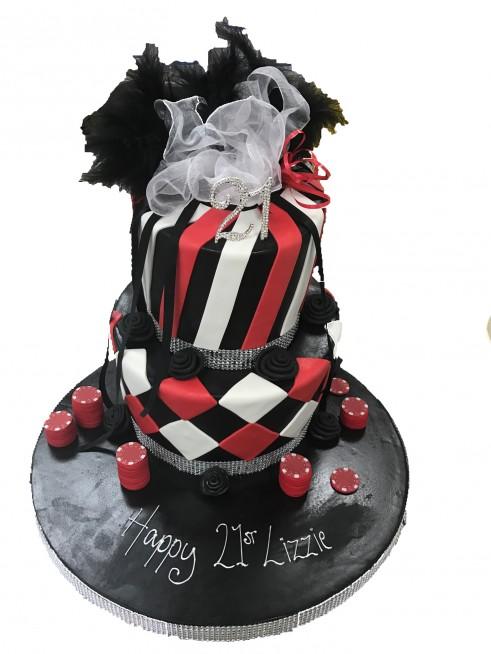 Casino Tiered Birthday Cake
