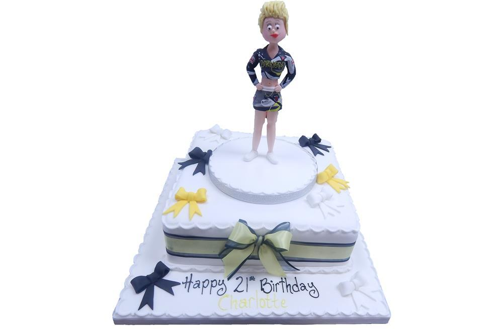 Excellent Cheerleader Cake Funny Birthday Cards Online Fluifree Goldxyz