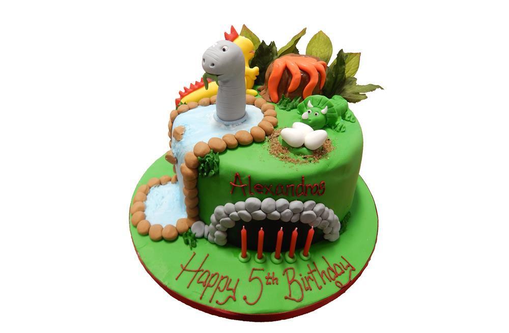 Sensational Dinosaur Scene Birthday Cake Funny Birthday Cards Online Eattedamsfinfo
