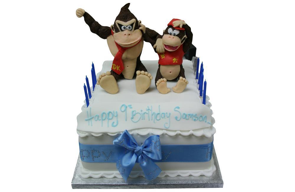 Fantastic Donkey Kong Birthday Cake Funny Birthday Cards Online Amentibdeldamsfinfo