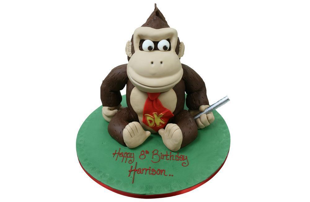 Swell Donkey Kong Birthday Cake Funny Birthday Cards Online Amentibdeldamsfinfo