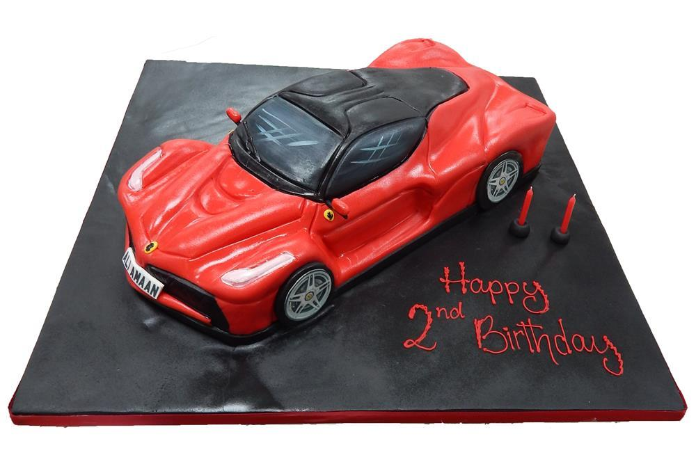 Remarkable Ferrari Car Birthday Cake Funny Birthday Cards Online Aboleapandamsfinfo