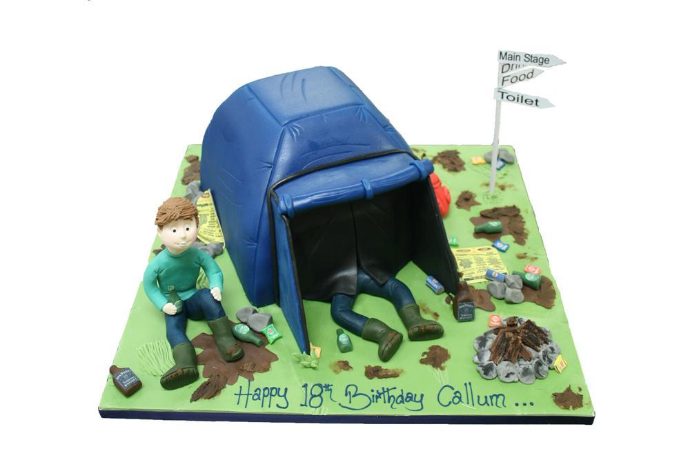 Festival C&ing  sc 1 st  Slattery & Figure u0026 Tent Cake Birthday CelebrationMale Female Camping ...