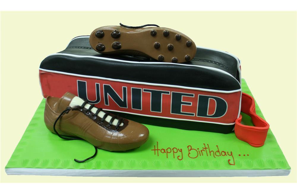 Football Boot Bag Birthday Cake