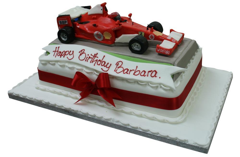 Formula One Ferrari Birthday Cake