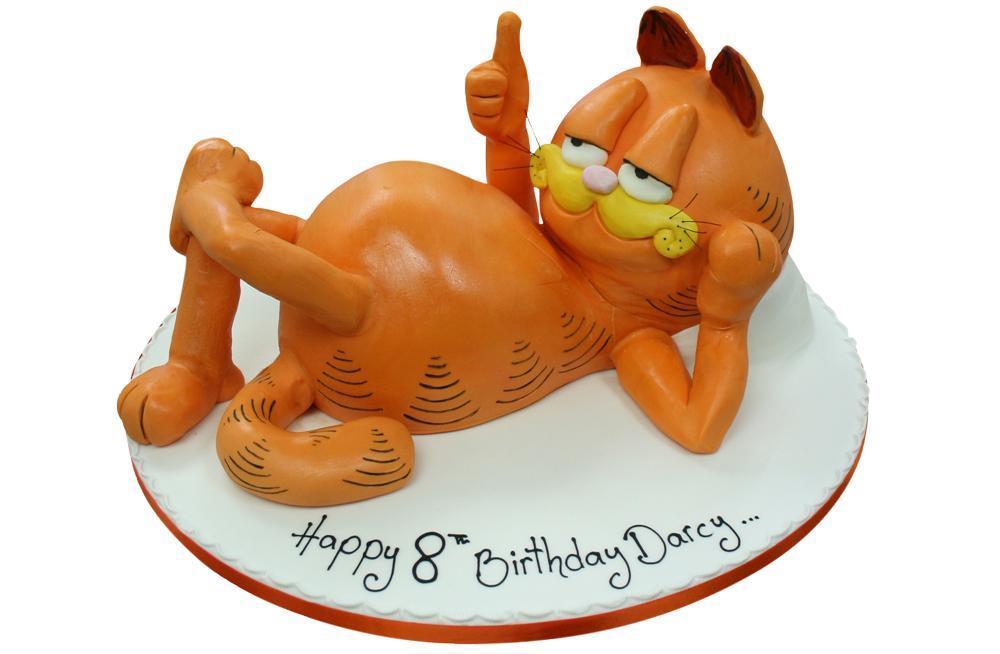 Outstanding Garfield Birthday Cake Personalised Birthday Cards Veneteletsinfo