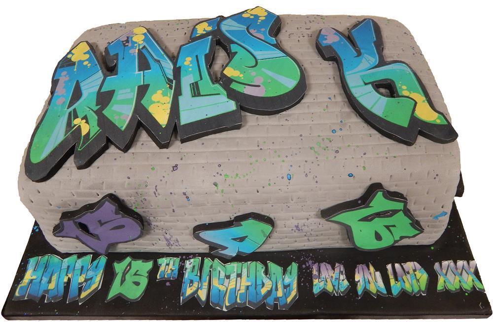 Graffiti Style Birthday Cake