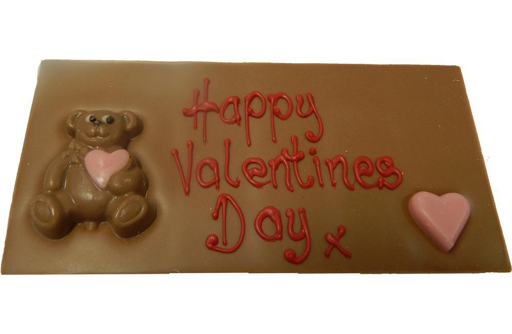 happy valentines day bear small chocolate bar, Ideas