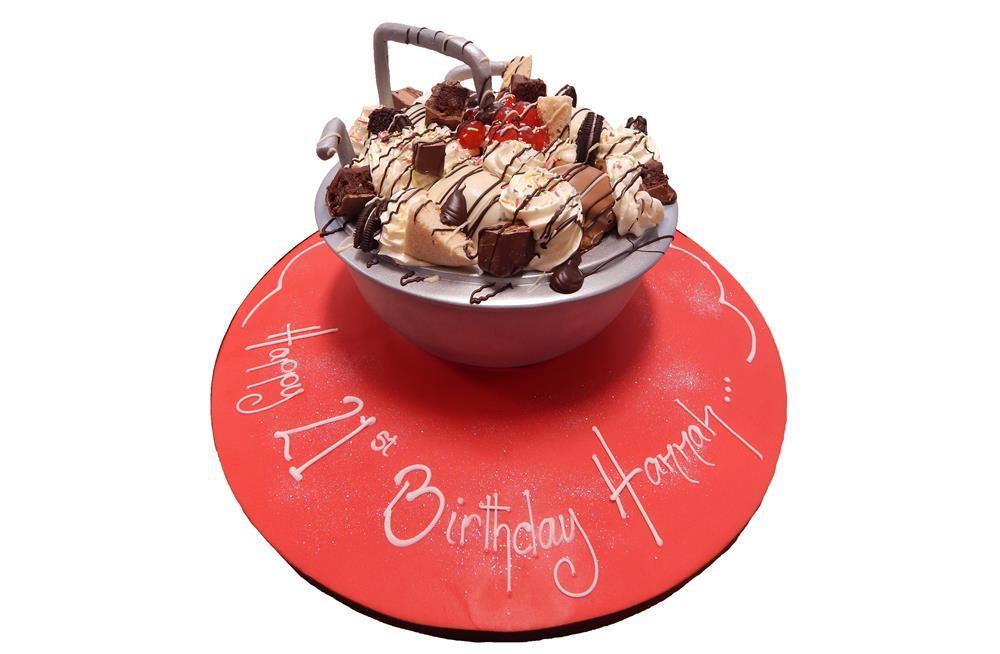 Ice Cream Bowl Cake