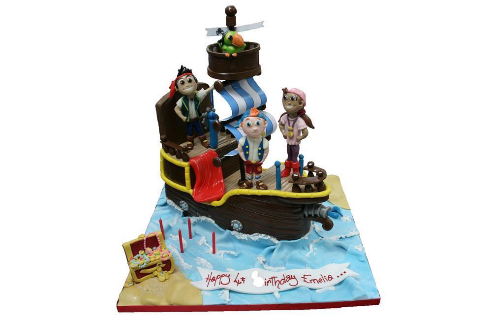 Stupendous Jake The Neverland Pirates Ship Birthday Cake Birthday Cards Printable Trancafe Filternl