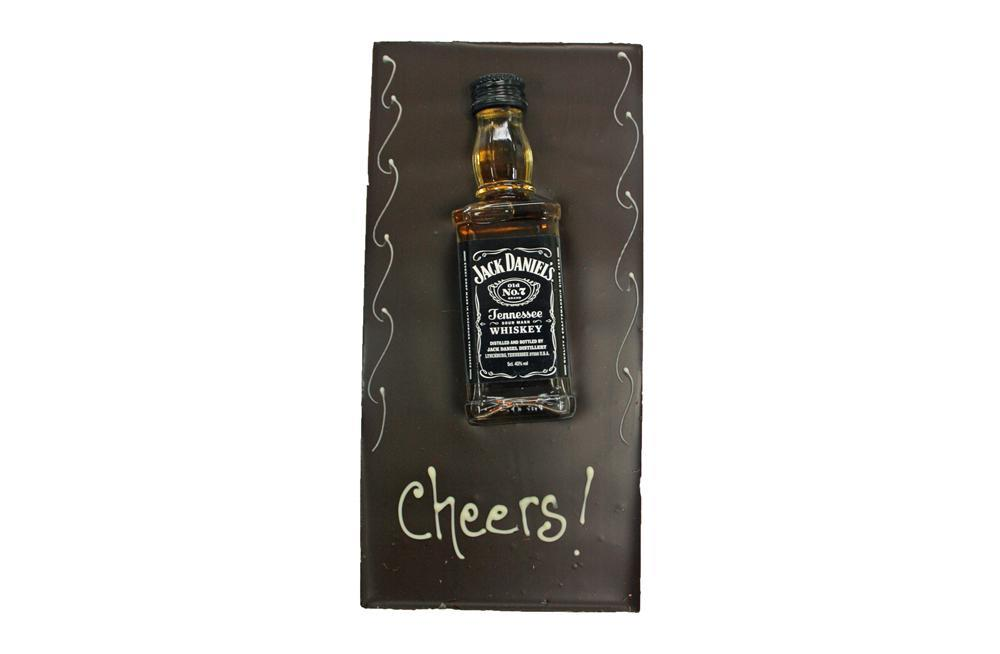 Large Chocolate bar with Alcohol - Jack Daniels