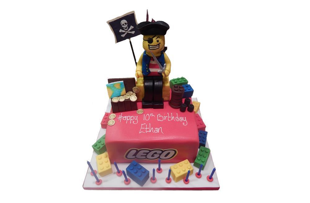 Lego Pirate Birthday Cake