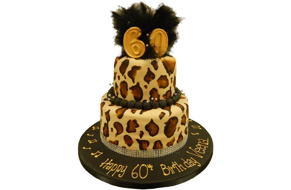 Leopard Print Tiered Cake