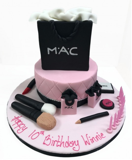 Groovy Mac Shopping Bag Makeup Personalised Birthday Cards Sponlily Jamesorg