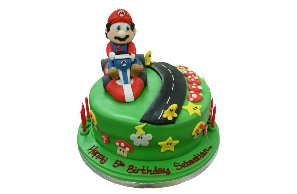 Terrific Mario Kart Sugar Birthday Cake Personalised Birthday Cards Sponlily Jamesorg