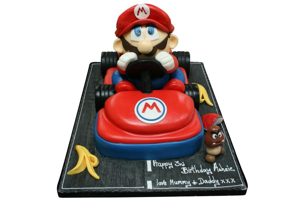 Strange Mario Mario Kart Birthday Cake Personalised Birthday Cards Sponlily Jamesorg