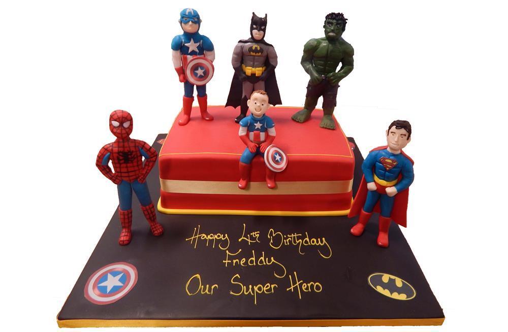 Avengers Tiered Cake Superhero Male Boys Marvel Celebration