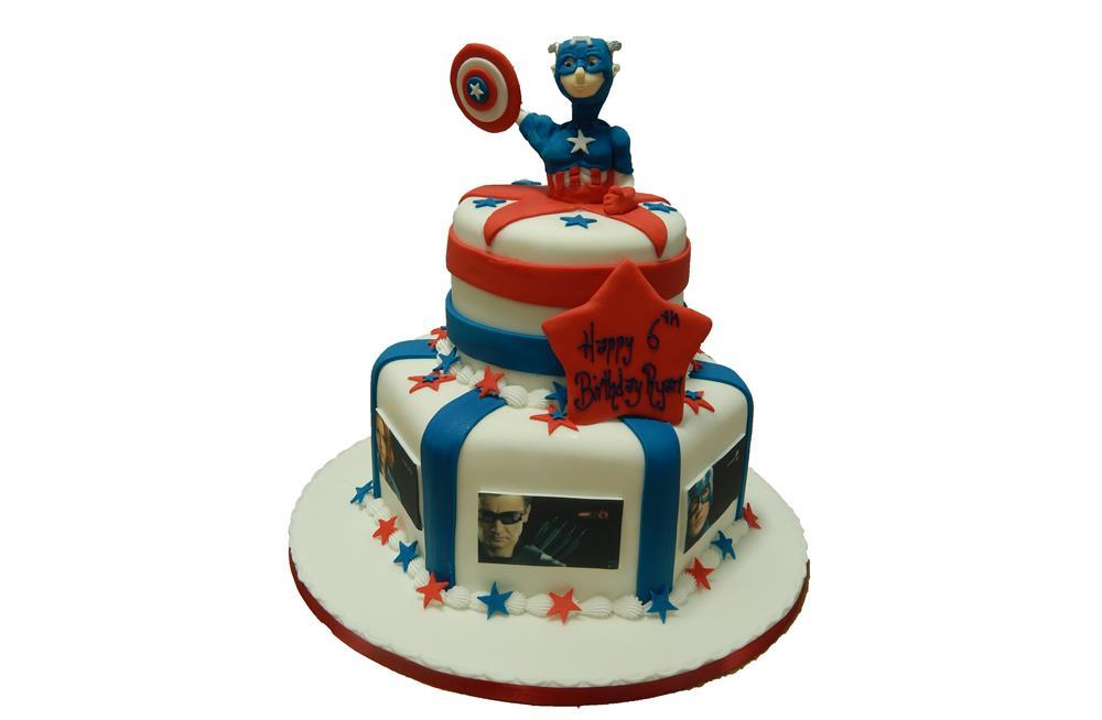Avengers Tiered Cake Superhero Male Boys Marvel Celebration