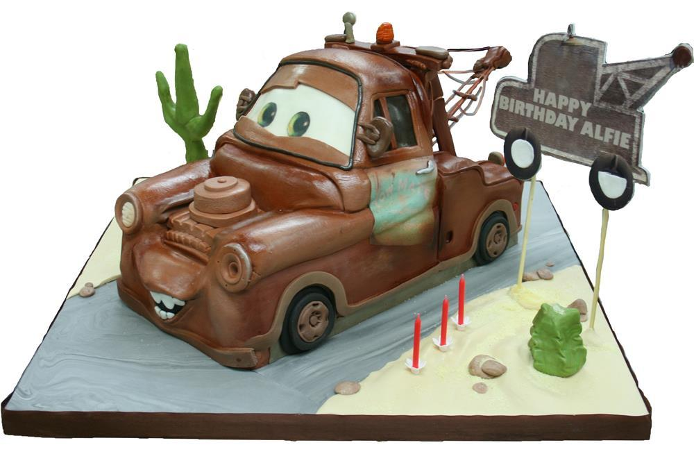 Lightning McQueen Truck Car birthday cake