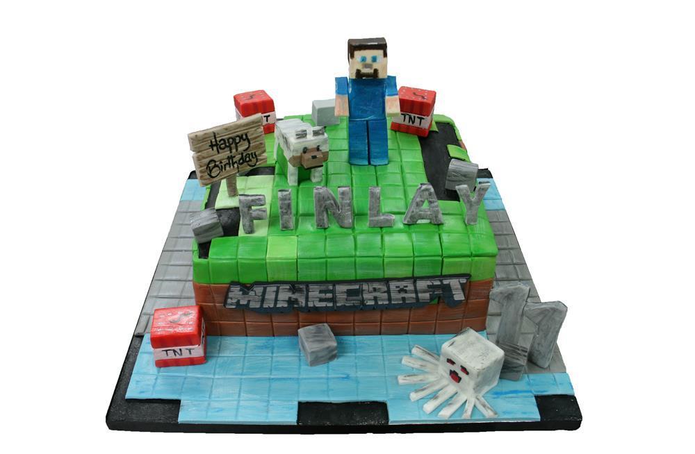 Remarkable Minecraft Birthday Cake Funny Birthday Cards Online Alyptdamsfinfo