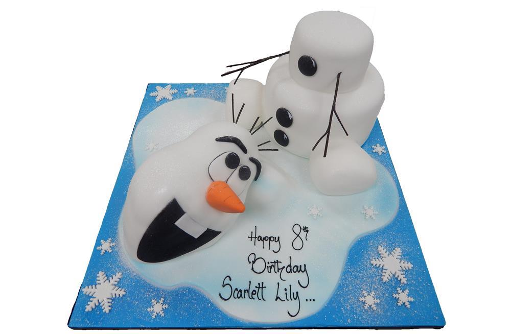 153904a6f7d Olaf Frozen Melting Cake