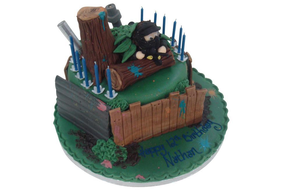 Excellent Paintball Birthday Cake Birthday Cards Printable Giouspongecafe Filternl
