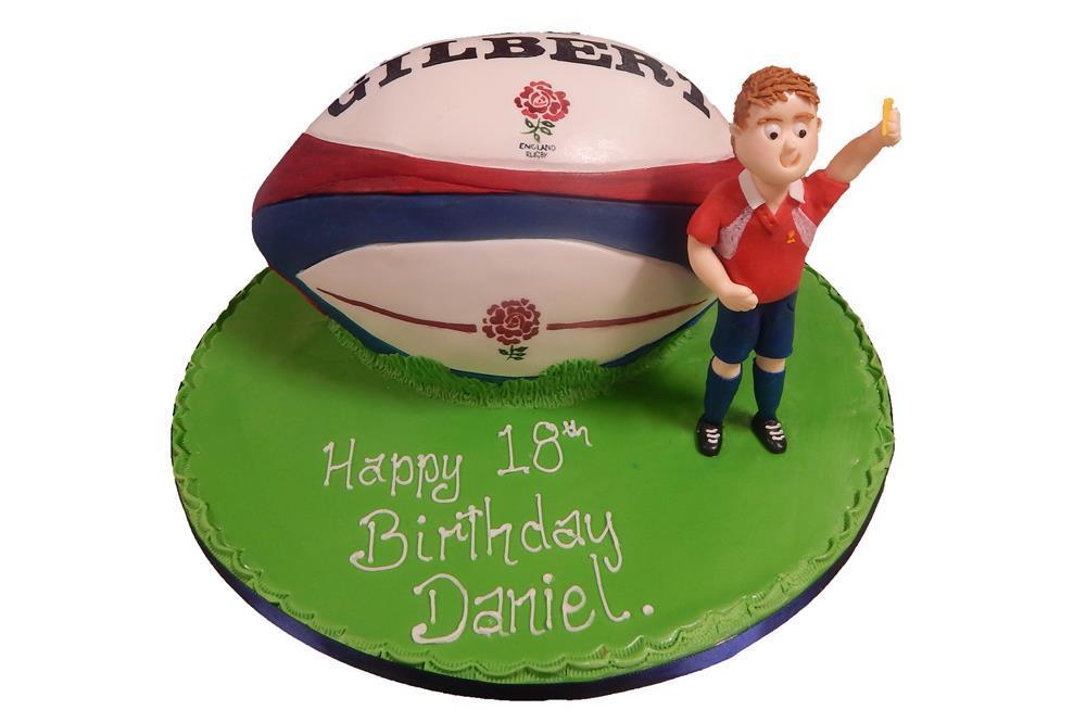 Chocolate Rugby Ball Cake