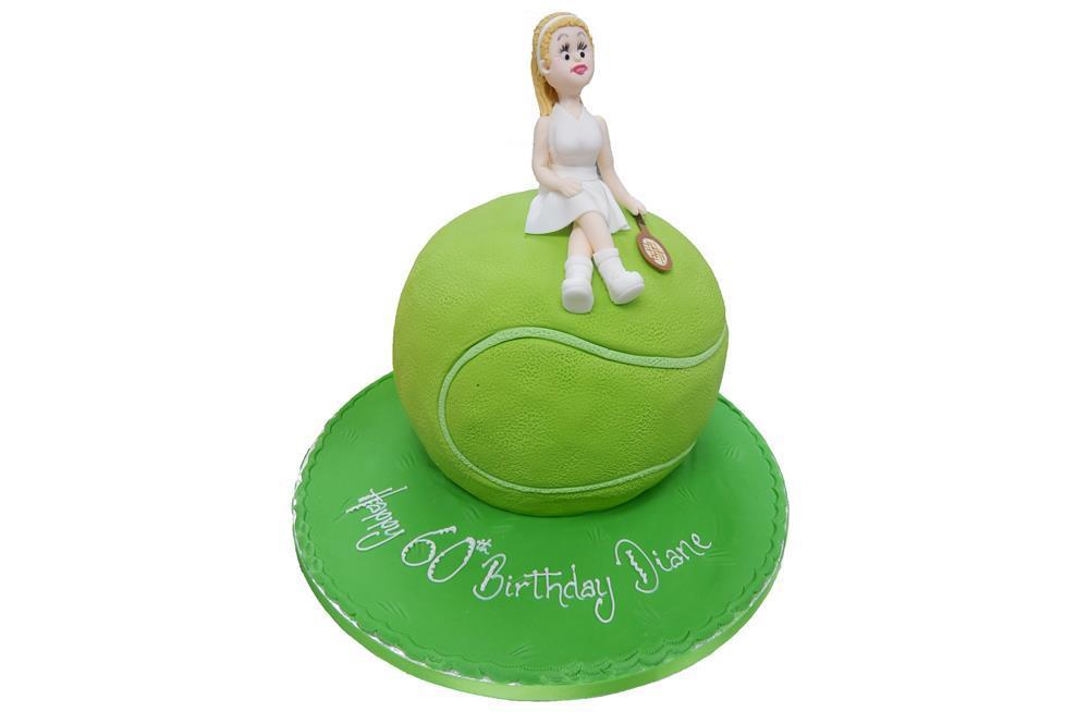 Cake Decorations Tennis : Tennis Ball & Figure Cake