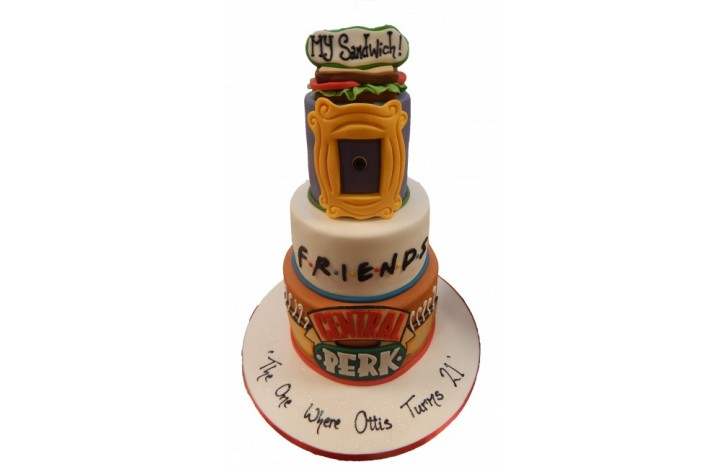 'Friends' Tiered Cake