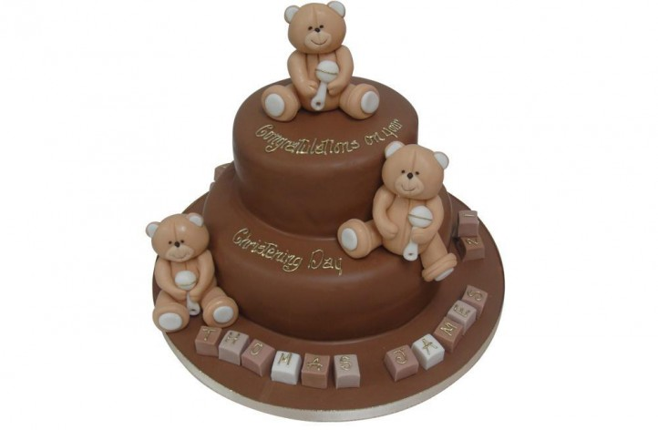 2 Tier Chocolate with Bears