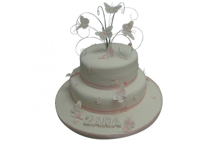 2 Tier with Butterflies