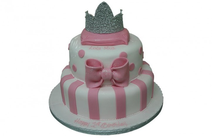 2 Tiered Tiara Cake