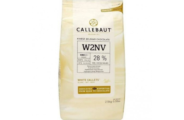 Barry Callebaut (W2) White Chocolate Callets 2.5kg