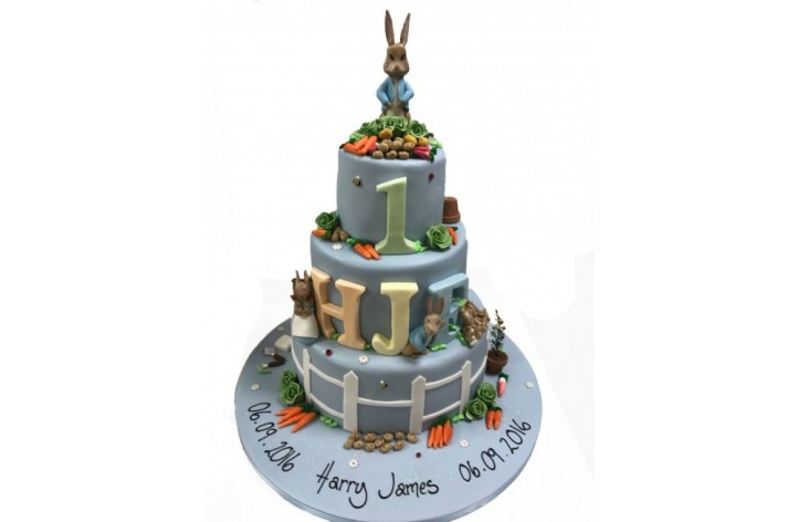 3 Tier Peter Rabbit Cake
