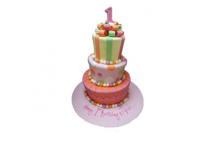 3 Tier Colourful cake