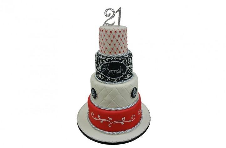 4 Tier Celebration Cake