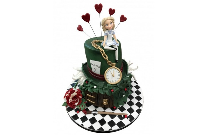 Alice in Wonderland Top Hat and Watch