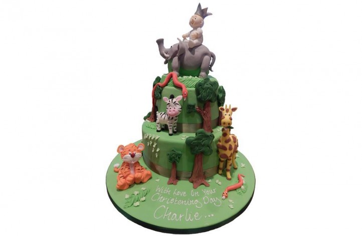 Animals & Baby Tiered Cake