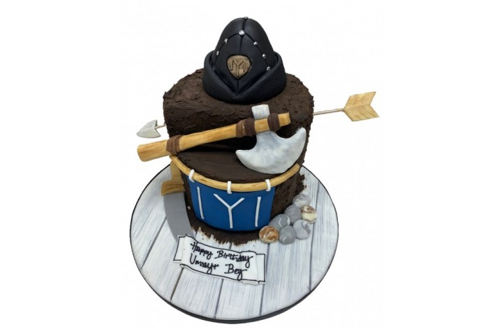 Axe & Arrow Cake