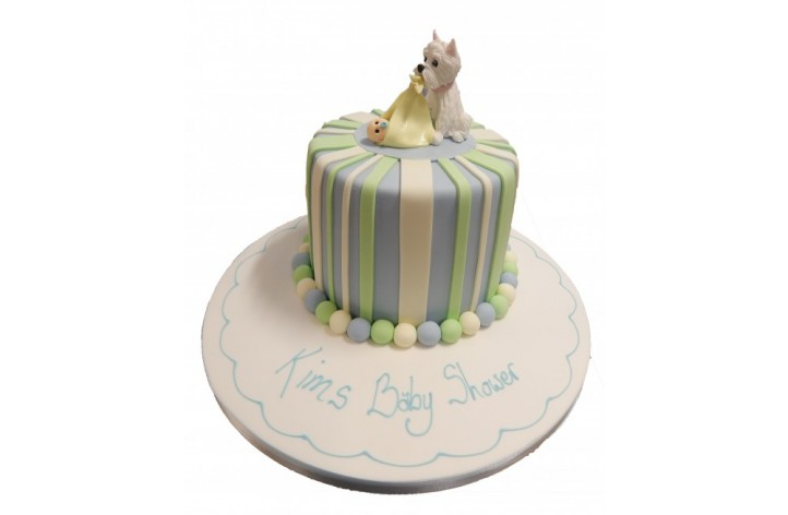 Baby & Dog Baby Shower Cake